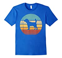 Beagle Retro Vintage Style 60s 70s Gifts Dog Lover Shirts Royal Blue