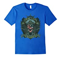 S Us Navy - Honor, Courage, Committ T-shirt For Patriots Royal Blue