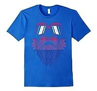 Weed Beard Funny Cannabis Lgbt Bisexual Pride Stoner Gift Shirts Royal Blue