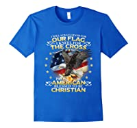 Christian Patriotic American Flag Shirts Royal Blue