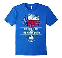 Texas Home Louisiana Roots State Tree Flag Shirt Love Gift Royal Blue