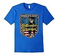 Worlds Best Rottweiler Grandpa Shirts Royal Blue