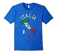 Italia Italian Flag Italy Shirts Royal Blue