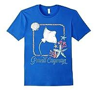 Grand Cayman Islands Turtle Tuna Stingray Blue Souvenir Gift T-shirt Royal Blue