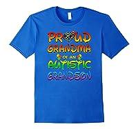 Autism Awareness Proud Grandma Of Autistic Grandson Shirts Royal Blue