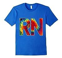 Nurses Groovy Tie Dye Shirts Royal Blue