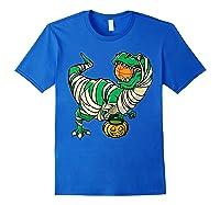Funny Basketball Player T Rex Dinosaur Halloween Costume T-shirt Royal Blue