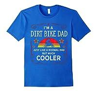 Dirt Bike Motorcycle Vintage Retro Dirtbike Dad Gifts Shirts Royal Blue