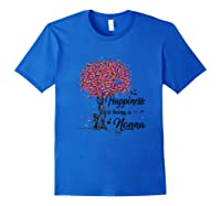 Happiness Is Being A Nonna Tshirt Cute Mother\\\'s Day Gifts T-shirt Royal Blue