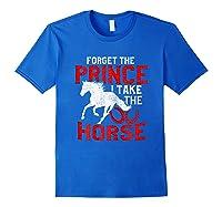 Rider Prefers Horses Shirts Royal Blue