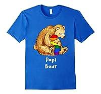 Papi Bear Proud Dad Lgbt Gay Pride Lgbt Dad Gifts Shirts Royal Blue