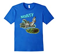 Madagascar Marty Painted Grass Poster Premium T-shirt Royal Blue