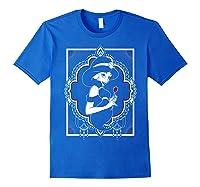 Disney Aladdin Jasmine Ornate Frame Rose Graphic T-shirt Royal Blue