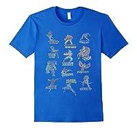 Avengers Team Logos Shirts Royal Blue