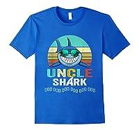 Uncle Shark Doo Doo T-shirt Royal Blue