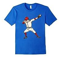Funny Dabbing Baseball Dab Hip Hop Dance Girls Shirts Royal Blue
