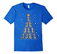 Dabbing Kangaroo Christmas Dab Christmas Tree Shirts Royal Blue
