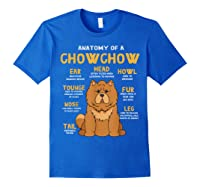 Chow Chow Funny Anatomy Of Mom Dad Dog Gift T-shirt Royal Blue
