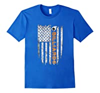 Billiards American Flag T-shirt Billiard Ts Royal Blue
