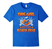 This Girl Loves Her Bichon Frise Dog Halloween Costume Shirts Royal Blue