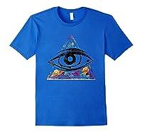 Horus Eye Egyptian Sacred Geometry Illuminati Ankh Egypt Shirts Royal Blue