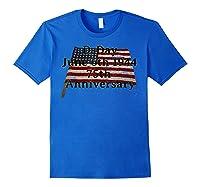 D-day June 6th 1944 75th Anniversary Commemorative 48 Star T-shirt Royal Blue