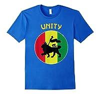 Rasta Live Up Unity Design Shirts Royal Blue