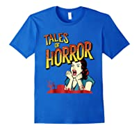 Vintage Horror Movie Poster Funny Halloween Shirts Royal Blue