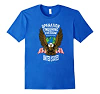 Operation Enduring Freedom Veteran Gift Shirts Royal Blue