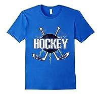 Ice Hockey Be Like Lightning For Hockey Players Shirts Royal Blue