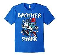 Brother Shark Doo Doo Bro Fun Uncle Birthday Gift Idea Shirts Royal Blue