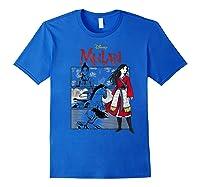 Mulan Live Action Comic Panels Shirts Royal Blue