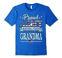 Proud Army National Guard Grandma U S Military Gift Shirts Royal Blue