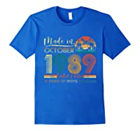Classic October 1989 Shirt 31st Birthday Gifts 31 Years Old T-shirt Royal Blue
