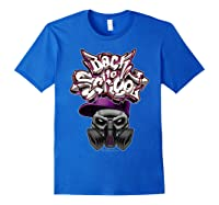 Back To School (in Purple) T-shirt Royal Blue