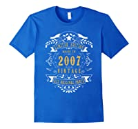 13 Years Old Made In 2007 13th Birthday, Anniversary Gift Shirts Royal Blue