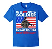 My Brother Is A Soldier Proud Army Family Military Sibling Shirts Royal Blue