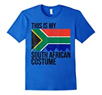 This Is My South African Flag Costume Design For Halloween Shirts Royal Blue