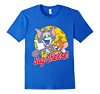 Tom And Jerry Say Cheese Portrait Shirts Royal Blue