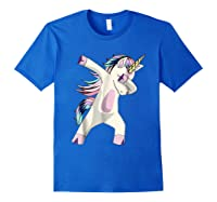 Dabbing Unicorn For Daughter Son Granddaughter Daddy Shirts Royal Blue