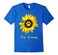 Dog Grampy Sunflower Gift Love Dogs And Flowers T-shirt Royal Blue