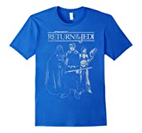 S The Return Group Poster Shirts Royal Blue