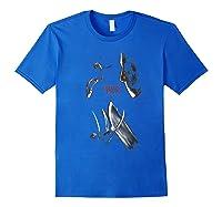 Freddy Vs Jason Face Off T-shirt Royal Blue