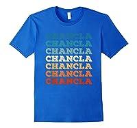Funny Mexican Mom Gift Chancla T-shirt Royal Blue