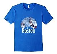 Vintage Boston Baseball Gifts Red Skyline Classic City Tank Top Shirts Royal Blue
