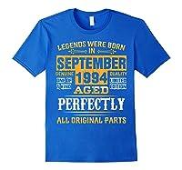 Vintage September 1994 Birthday Gift For 25 Yrs Old D1 Shirts Royal Blue