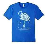 Awareness Flamingo Bule Ribbon Shirts Royal Blue