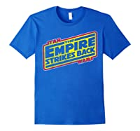 Star Wars The Empire Strikes Back Vintage Logo T-shirt Royal Blue