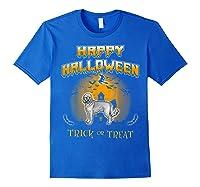 Cockapoo Dog Happy Halloween Shirts Royal Blue
