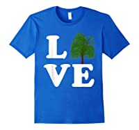 Love Trees Shirt Earth Day Weeping Willow Tee T-shirt Royal Blue